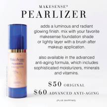 Pearlizer goes ontop of foundation
